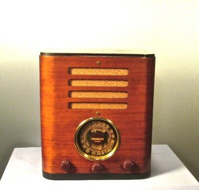 Antique Crosley vintage tube radio restored and working