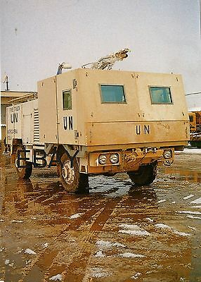 French Air Force (UN) Armoured Rapid Intervention Vehicle in Sarajevo - POSTCARD