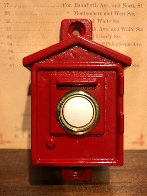 Vintage Style Fire Alarm Doorbell - Gamewell Box Style