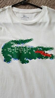 lacoste mens logo crew tee size 3 x-small or 4 small