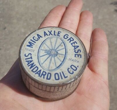 Early Standard Oil of Indiana Mica Axle Grease Sample Size Can Wagon Oil