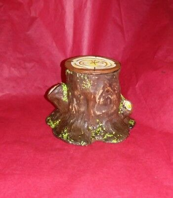 Paper Mache stump/log candy container/ display stand for figures small#1
