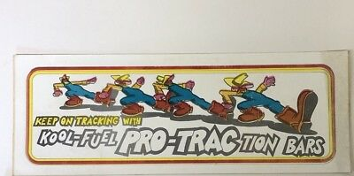 PRO-TRACTION By Kool Fuel - Original Vintage 1960's 70's Racing Decal/Sticker Y1