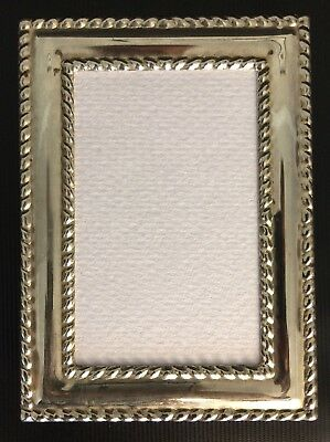 """Vintage Style Silver Plated Photo Picture Frame Holds Photo 2.5 x 3.5"""""""
