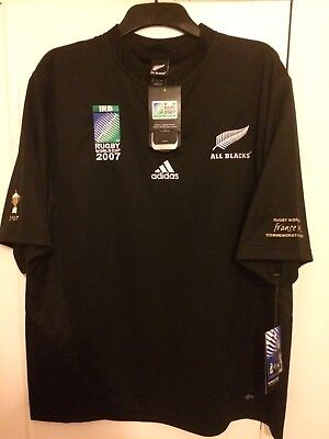 2007 Adidas New Zealand home Rugby Shirt XL mens World Cup commemorative BNWT