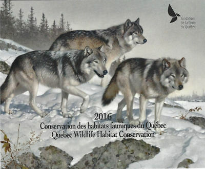 2016 Canada Quebec  Wildlife Habitat Conservation  -DQ82s  four stamps   Mint NH