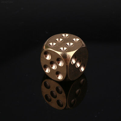 D9F9 Brass Dice Solid Heavy Metal Alloy Childen Shake KTV Party Bar Supplies