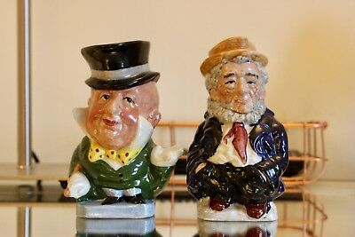 Charles Dickens Collection Toby Jugs Staffordshire Mr Micawber Mr Peggotty