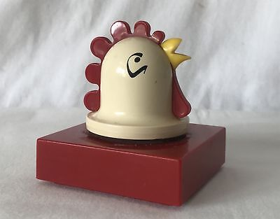 Working Retro Plastic Kitchen Egg Timer Shaped like a Cockerel Chickens Head