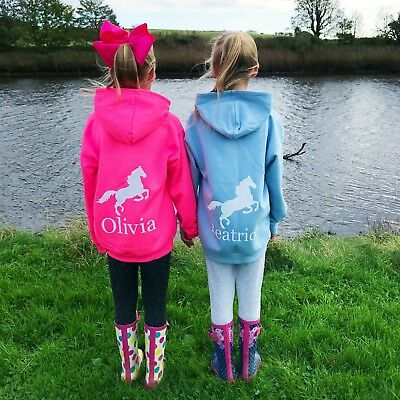 Girls Personalised Activity Hoodie Ballet Gymnastics Horse Riding Ice Skating