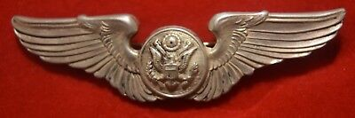 DTStamps: WWII USAAF/Air Corps Enlisted Aircrew Sterling Silver Pin-Back Wings