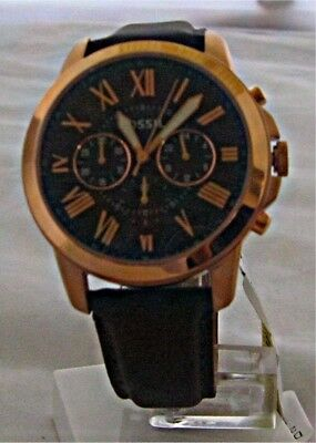 Fossil - Men's Grant Chronograph Brown Leather Watch - FS5068