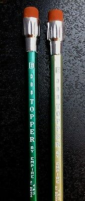 Vintage pencils 388 Topper by Empire green gold unsharpened RARE and HTF
