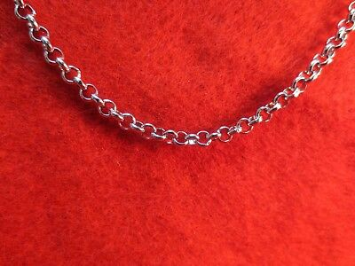 30 Inch Silver Stainless Steel 4Mm Rolo  Link Rope Chain Necklace