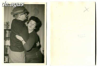Vintage Photo circa 1960s funny young woman dancing with man