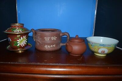 a lot Chinese bowl,tea pot and cup mark