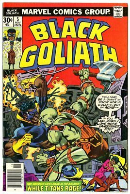 Black Goliath #5 VF/NM 9.0 ow/white pages  Marvel  1976  No Reserve