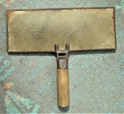 Antique Wood Handle Wool Carder Comb TUFFER Howard Bros Worcester Mass 30 A 14