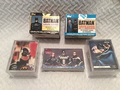 Batman Movie Trading Cards / All 4 Movies COMPLETE SETS