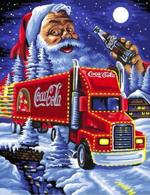 Snow Santa Claus Christmas Eve Car DIY 5D Diamond Painting Full drill Art /989