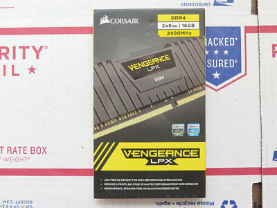NEW CORSAIR Vengeance LPX 16GB (2x8GB) DDR4 RAM 2400MHz DIMM Desktop PC Memory