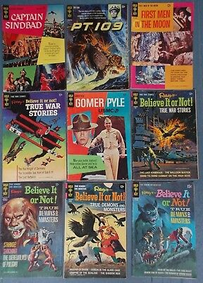 9 Gold Key Golden & Silver Age Comics / Gomer Pyle / Captain Sinbad / Ripley's
