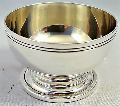 c1970's Tiffany 45gr London, England Sterling Silver OPEN SALT DIP or CELLAR NR
