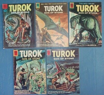 5 Dell Silver Age TUROK Comic Books