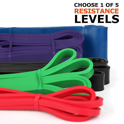 POWER Heavy Duty RESISTANCE BAND Gym Yoga LOOP Exercise Fitness Workout Lead