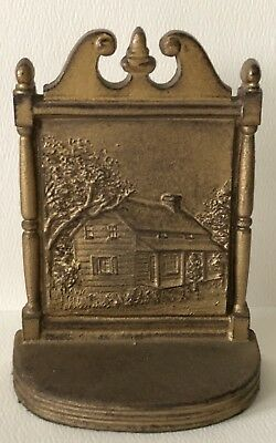 Antique BRADLEY & HUBBARD Cast Iron BOOKEND Edgar Allan Poe HOUSE Single Only