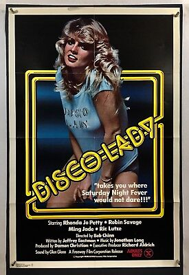 DISCO LADY Movie Poster (Fine-) One Sheet 1978 Sexpliotation Rated X 1181