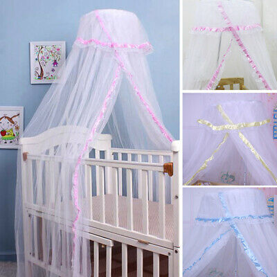 Baby Crib Canopy Infant Mosquito Net Nursery Bed Netting Insect Cover No Holder