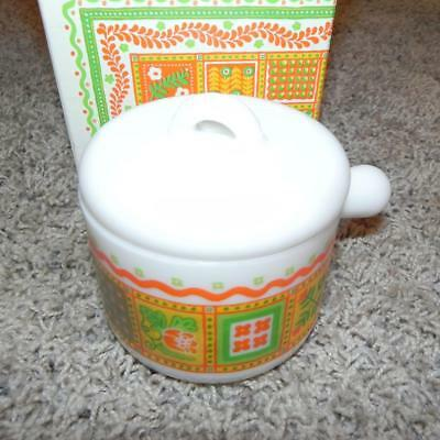 #1516 Vintage Retired New NIB AVON Patchwork scent Candleholder Candle Retro OLD