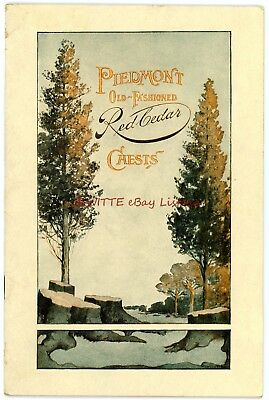 Piedmont Old-Fashioned Red Cedar Chests - 1909 - Booklet + 11 additional items