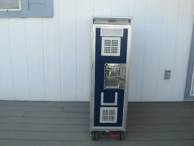 1 Airline Full Size  Galley Service Cart Trolley Bar And Beverage