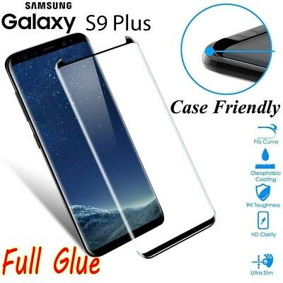 Full Glue Adhesive 6D [Case Friendly] Tempered Glass For Samsung Galaxy S9 Plus