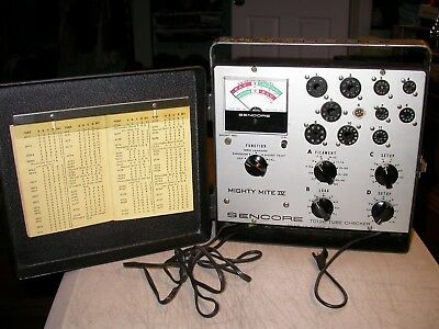 Vintage Sencore TC 136 Mighty Mite IV Tube Checker Works Fine
