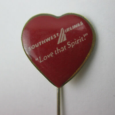 Southwest Airlines Love That Spirit Red Heart Stick Pin