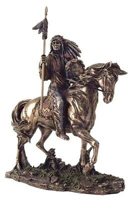 7 Inch Mandan Indian Chief Figure Statue American Warrior Indio Figurine Native