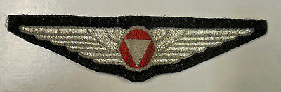 #105. WWII Austrian First Republic pilots wing, silver NCO, RARE.