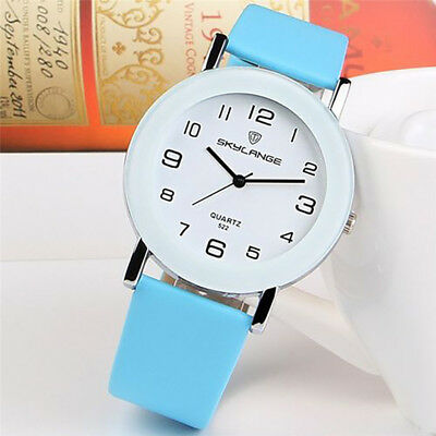Fashion Women's Stainless Steel Leather Strap Analog Quartz Wrist Watch Gift