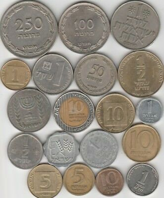 19 different world coins from ISRAEL