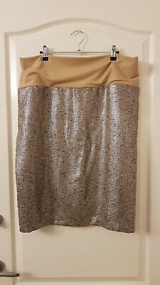 Metallic Maternity Pencil Skirt  - size xl