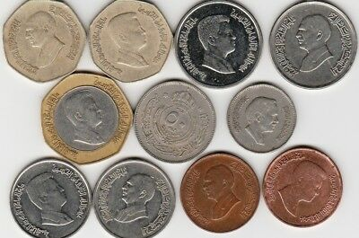11 different world coins from JORDAN