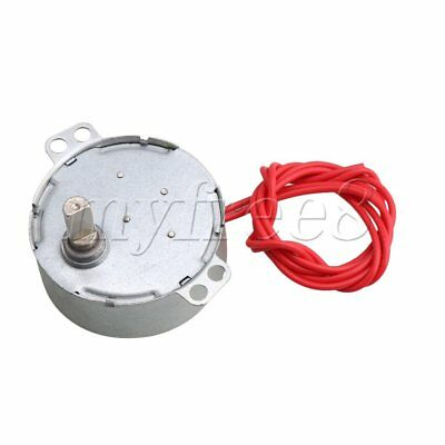 AC 12V 0.8-1 RPM Replacement Synchron Motor with Flat Shank Torque 12KGF.CM