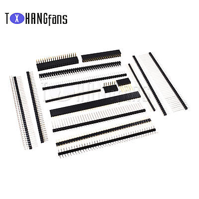 Pin Header Strip 3-40 Pin 1.27/2.0/2.54mm round Row Angle Male Female ATF