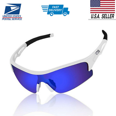Polarized Sports Sunglasses UV400 Protection Unbreakable Superlight Cycling Fit