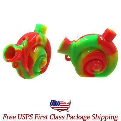 Collectible Mini Silicone Tobacco Smoking Bubbler Water Pipe -Fast Free Shipping