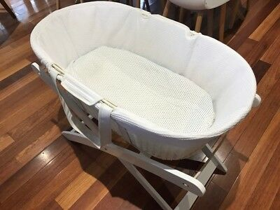 Childcare Baby Moses Basket And Stand In Excellent Condition