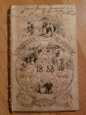 Christian Almanac 1853 165 Years Old